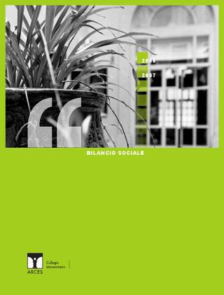 Bilancio Sociale ARCES 2007-2008