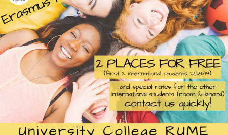 RUME University Residence: 2 Places for Free for Erasmus Students