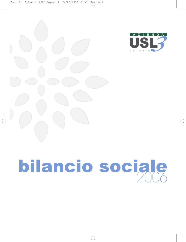 Bilancio Sociale 2006 Azienda USL3 Catania