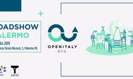 18 Luglio 2019. A Palermo Open Italy Roadshow 2019. Startup italiane e  giovani talenti appassionati d'innovazione si incontrano!