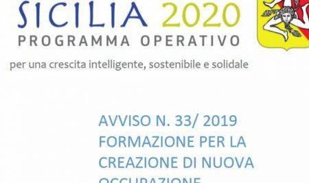 AVVISO N. 33/2019 Formazione per la creazione di nuova occupazione