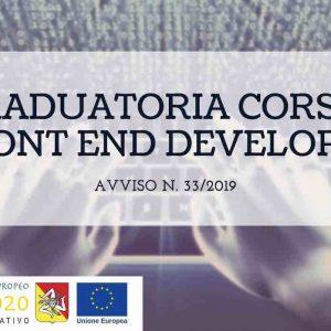 Graduatoria Prove di Selezione Corso Arces Avviso 33/2019 Front End Developer