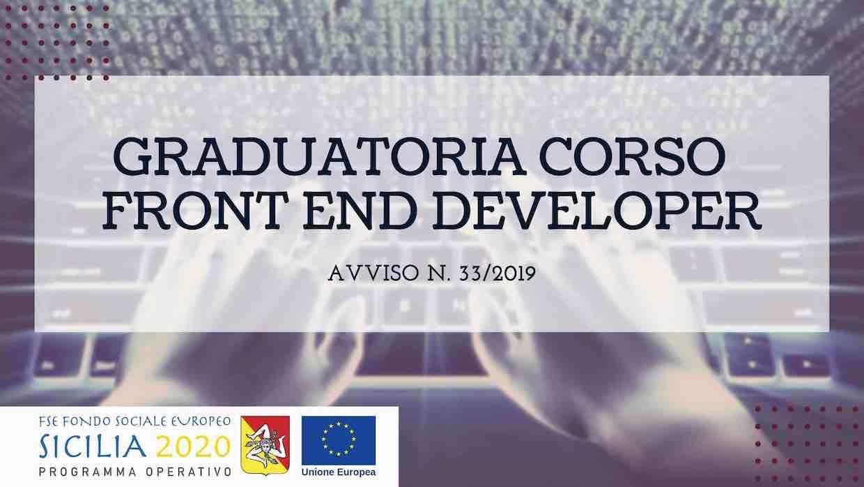 Graduatoria Corso Front End avviso 33 2019